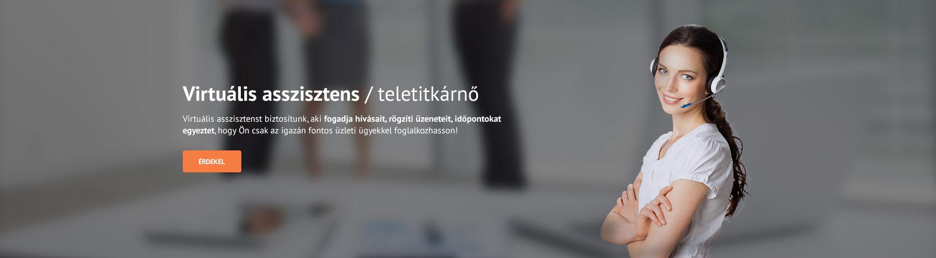 Virtuális asszisztens / teletitkárnő